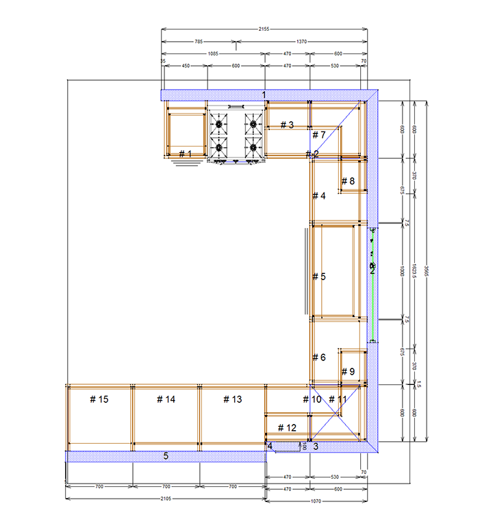 naked kitchens floor plan
