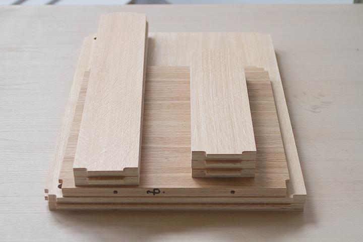 unassembled cabinet components