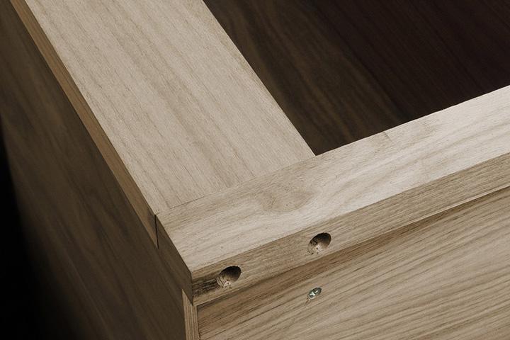 walnut veneered cabinet