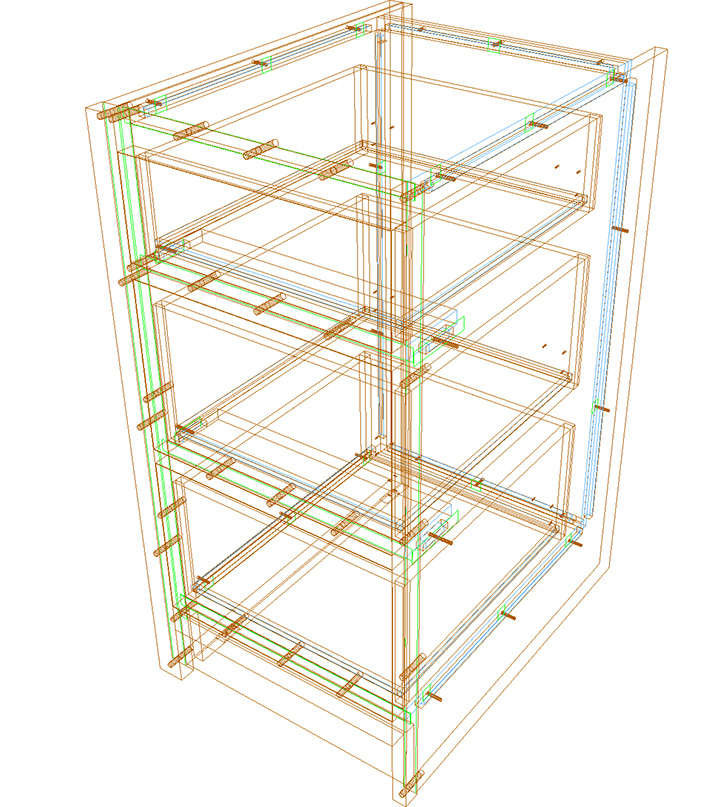 wire frame cabinet