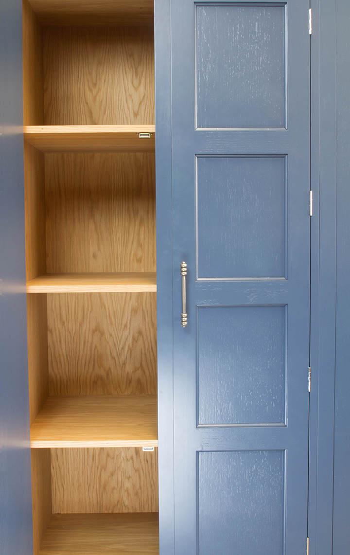 oak veneered birch ply cabinet walls