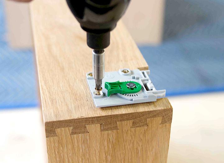 solid oak drawer clip set