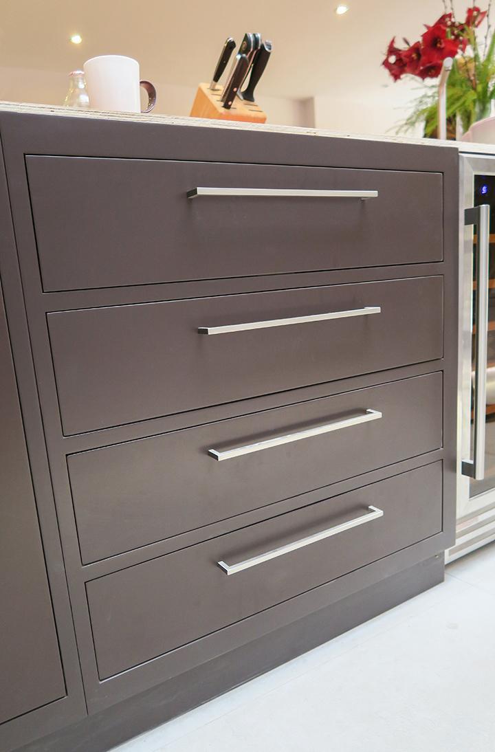 minimalist kitchen drawers