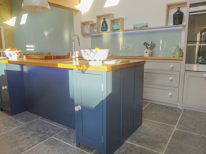 naked frame bespoke kitchen island