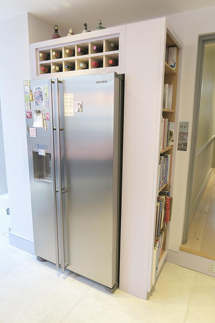 wine rack fridge bespoke kitchen