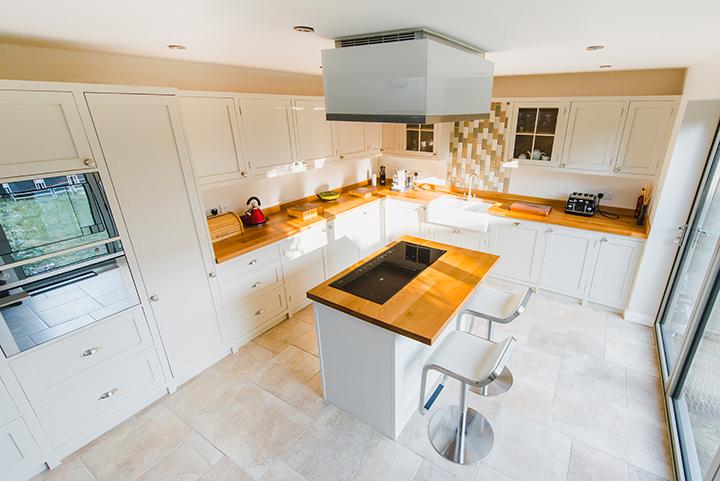white kitchen flooring