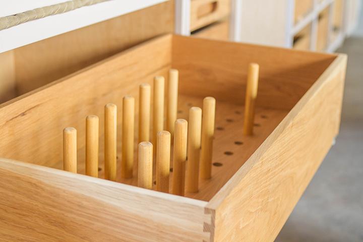 oak peg drawer