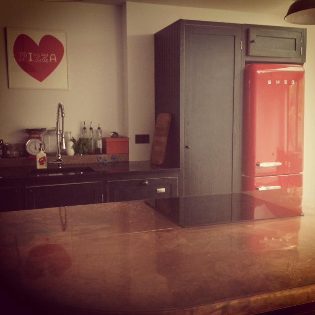dark shaker kitchen