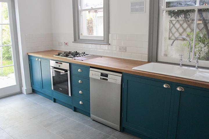 naked frame shaker kitchen