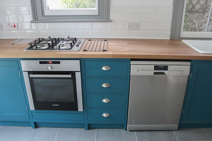 naked frame appliances and worktop