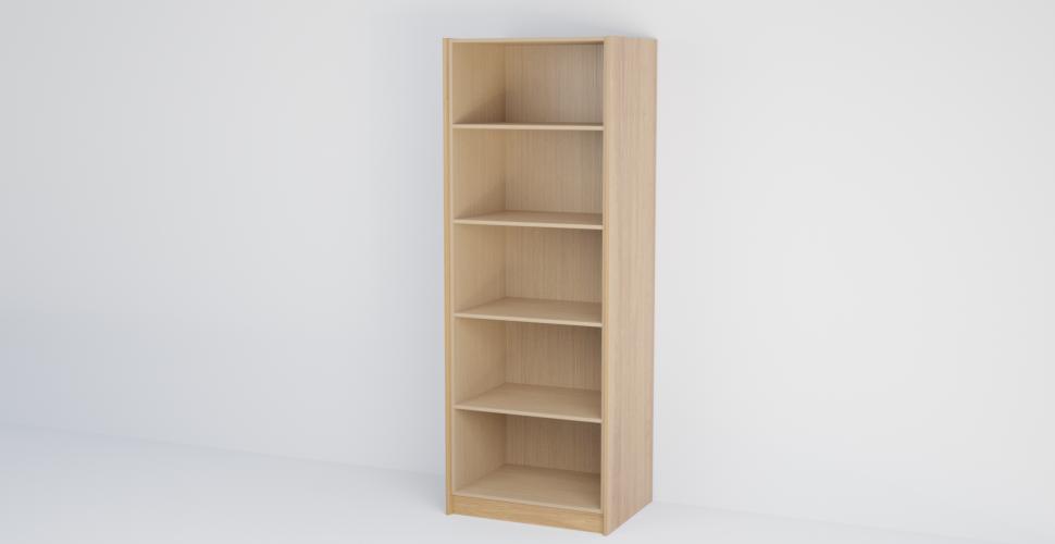 Double Open Shelf Tall Cabinet