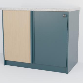 Corner Slab Cabinet