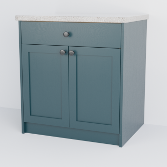 Double Shaker Cabinet With Drawer