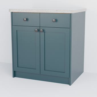 Double Shaker Cabinet With Drawers