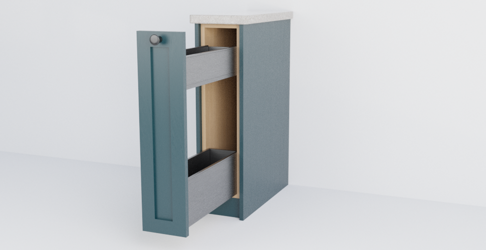 Shaker Pull Out Storage Unit