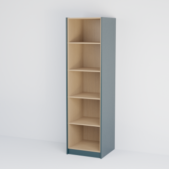 Single Open Shelf Tall Cabinet