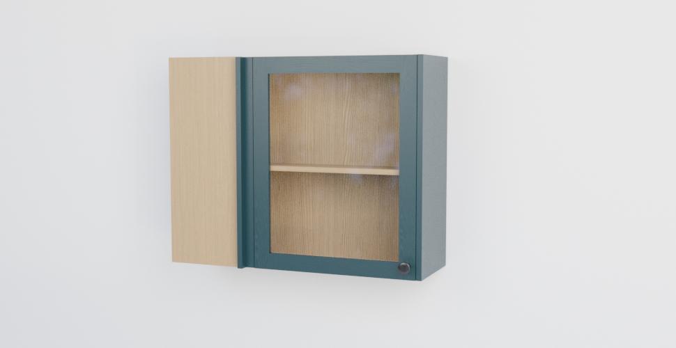 Single Glazed Corner Wall Cabinet Naked Kitchens