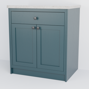 In-Frame Double Shaker Cabinet With Drawer
