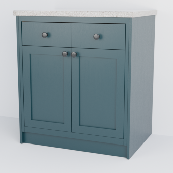 In-Frame Double Shaker Cabinet With Drawers