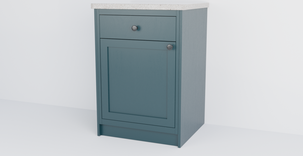 In-Frame Single Shaker Cabinet With Drawer