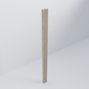 Brushed Limed Grain Oak Scandi Filler Piece
