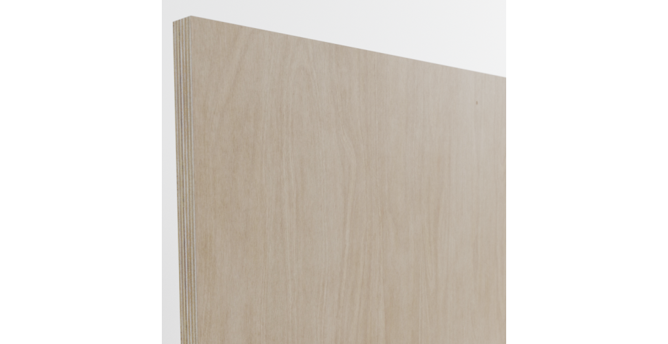 Pure Scandi Painted Slab Doors And Birch Ply End Panels