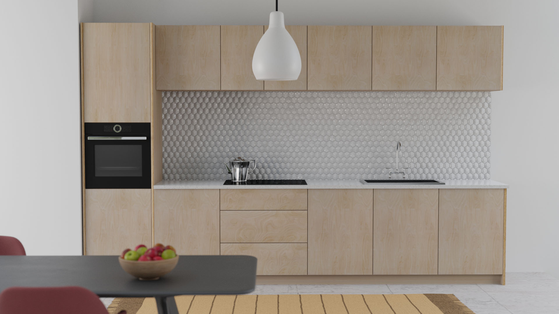 Scandinavian Style Plywood Cabinet Doors Naked Kitchens