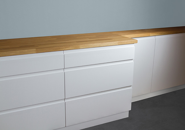 handless slab cabinet door style